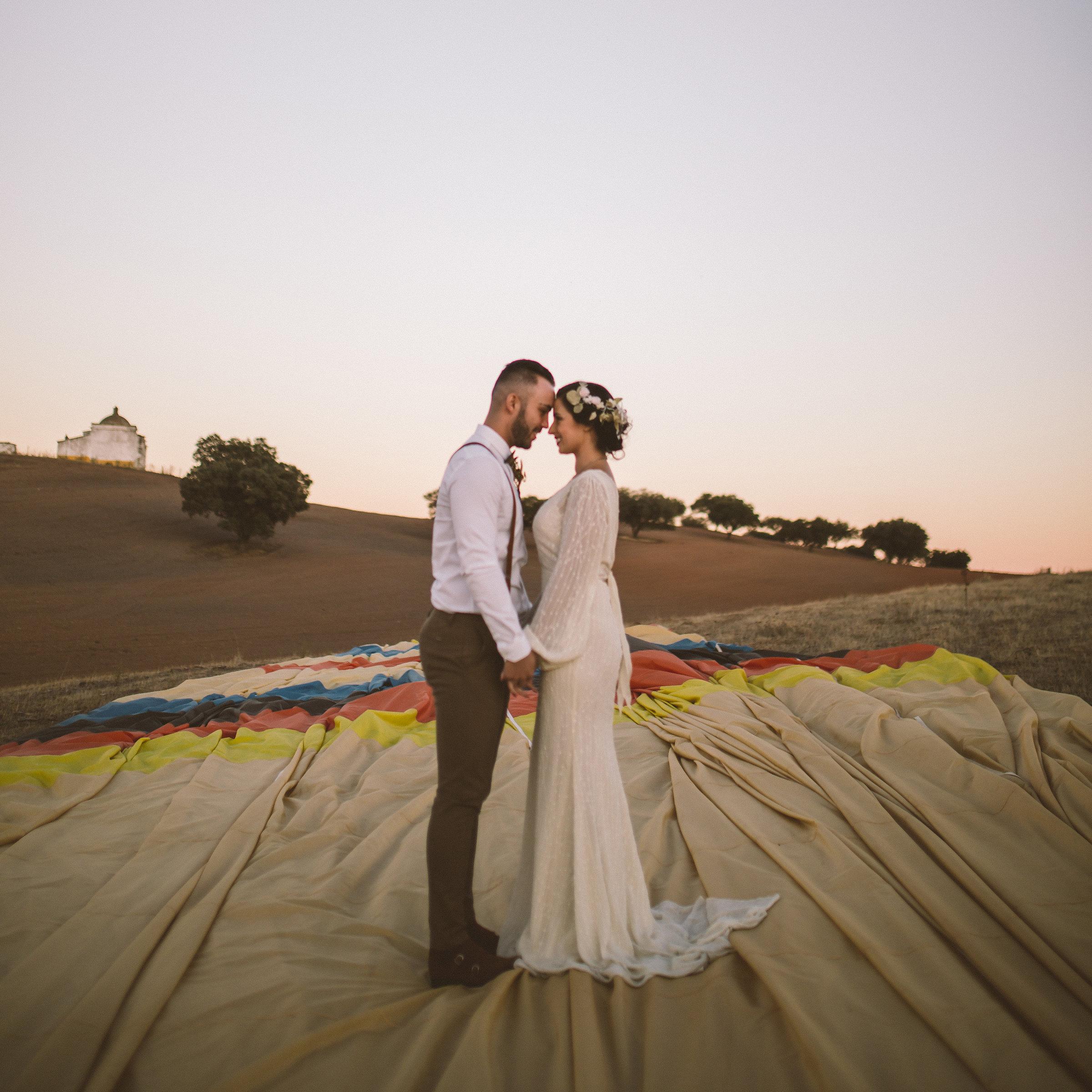 Casamento num Balão de Ar quente